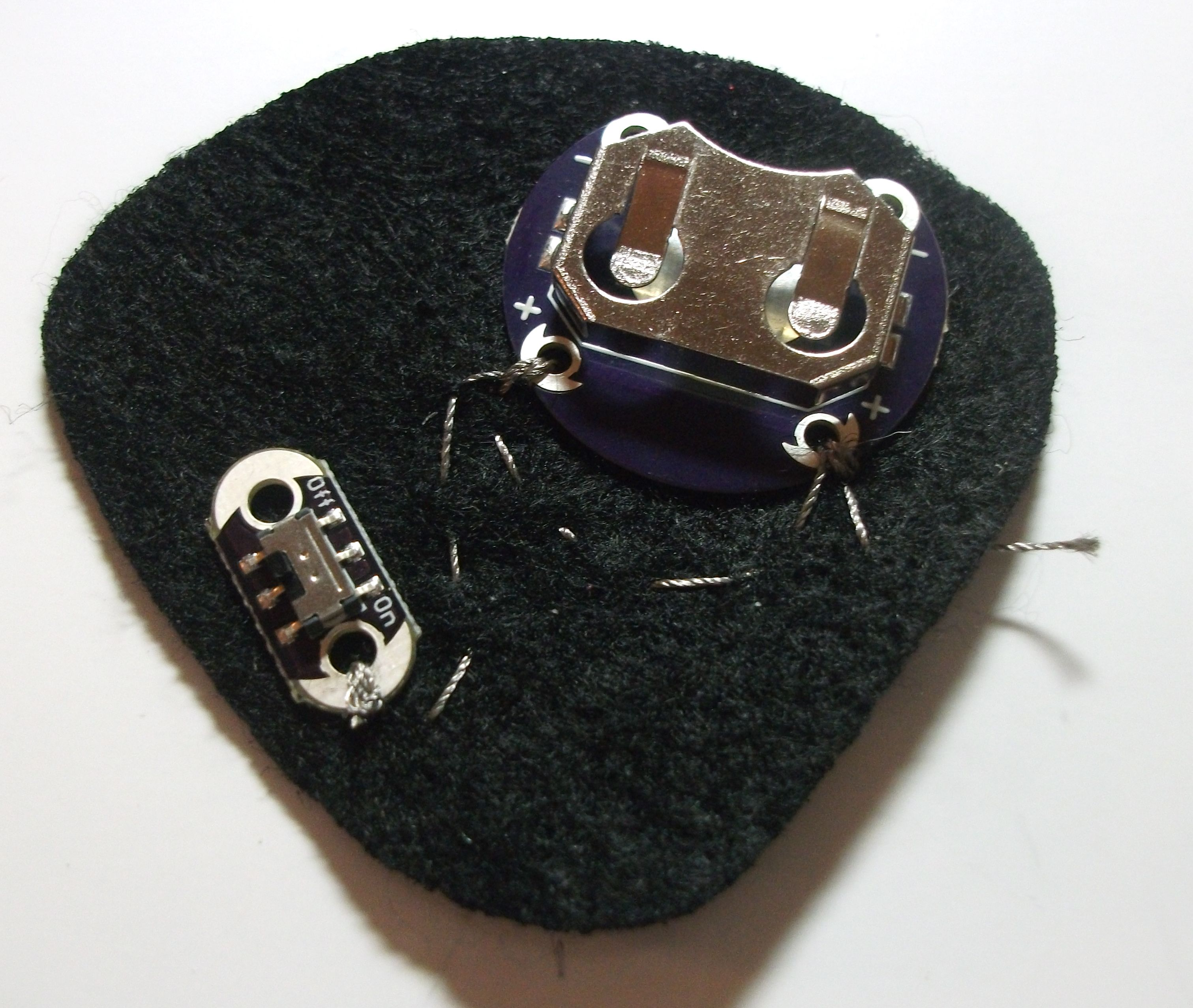 Picture of Sewing the Battery and Switch Layer