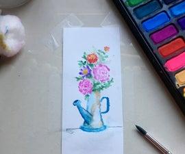 Floral Watercolor Bookmark