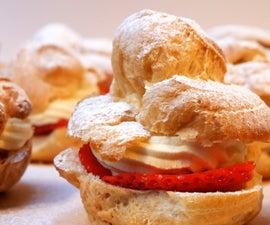 Cream Puffs - Strawberry & Cream (Choux a La Creme)