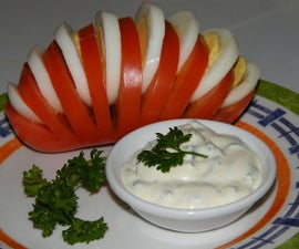Tomato Fan (Egg Stuffed Tomato)