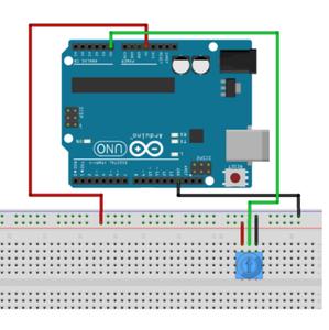 Setting Up the Potmeter on Arduino