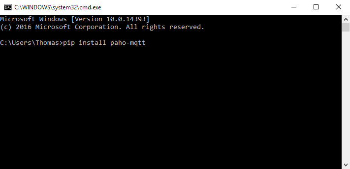 Picture of Installing Python Client (paho-mqtt)