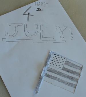 Picture of Easy Papercraft 4th July Celebration