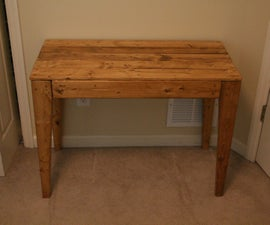 Easy $30 Console Table With 2x4s and 1x4s