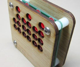 24 Hour Binary Clock with Bamboo Case