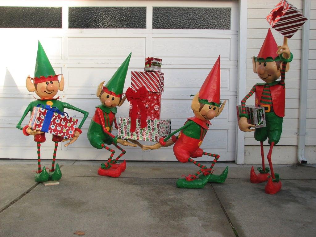Santa s Elves Yard Display 7 Steps with