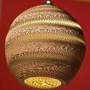 Spherical Cardboard Lamp