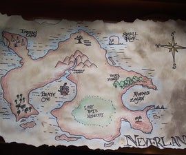 Make an Ancient-Looking Map of Neverland