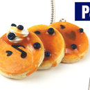 How to Make a Polymer Clay Blueberry Pancakes Necklace -using Stencils!-Tutorial