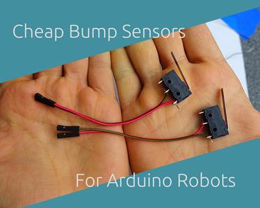 Cheap Bump Sensors for Arduino Robots