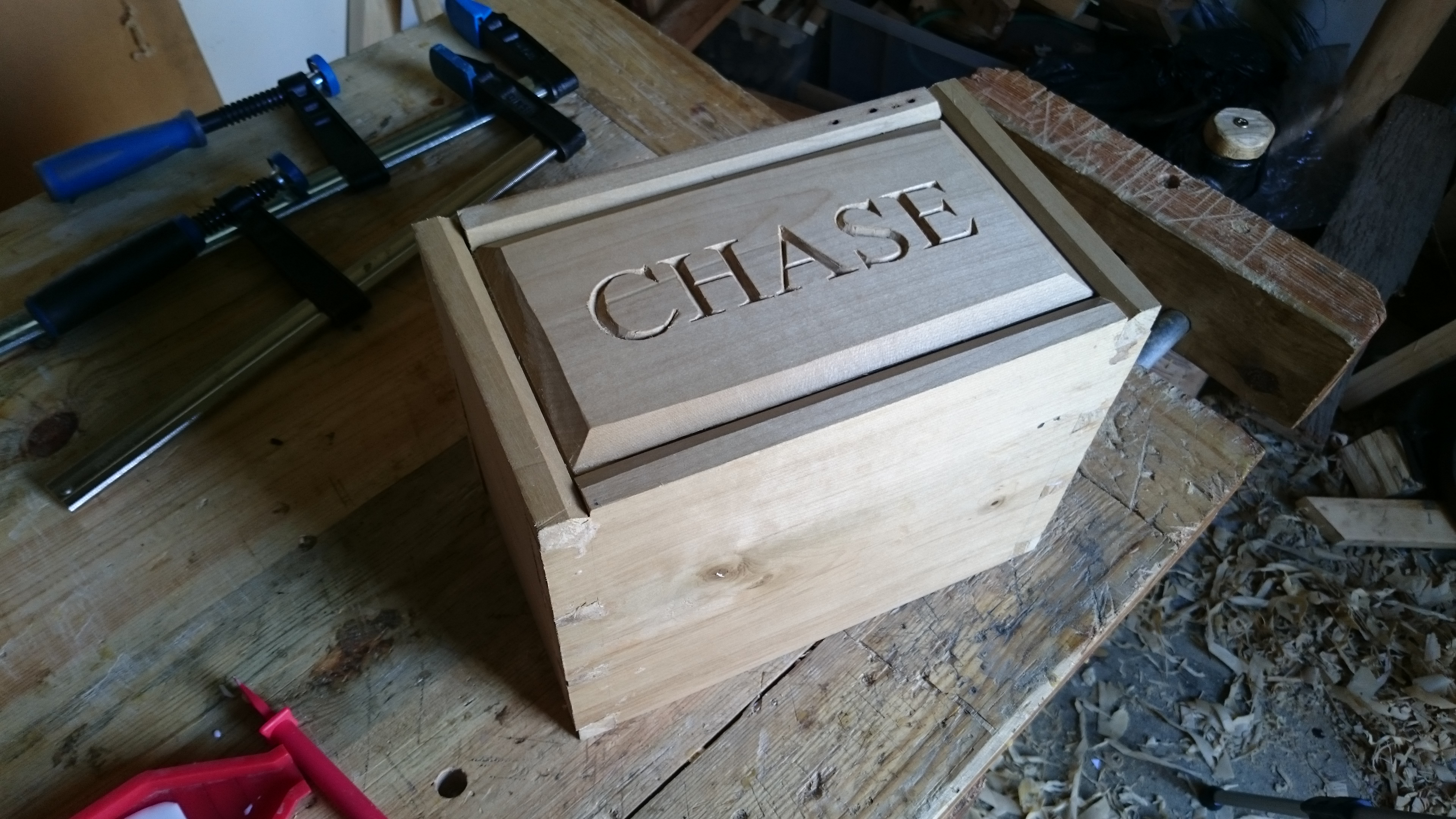 Picture of Carving the Top of the Box