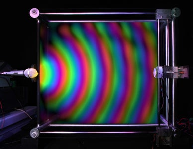See Sound Waves Using Colored Light (RGB LED)