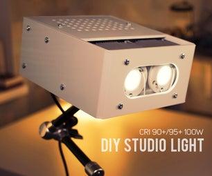 DIY 10000 Lumen LED Studio Light (CRI 90+)