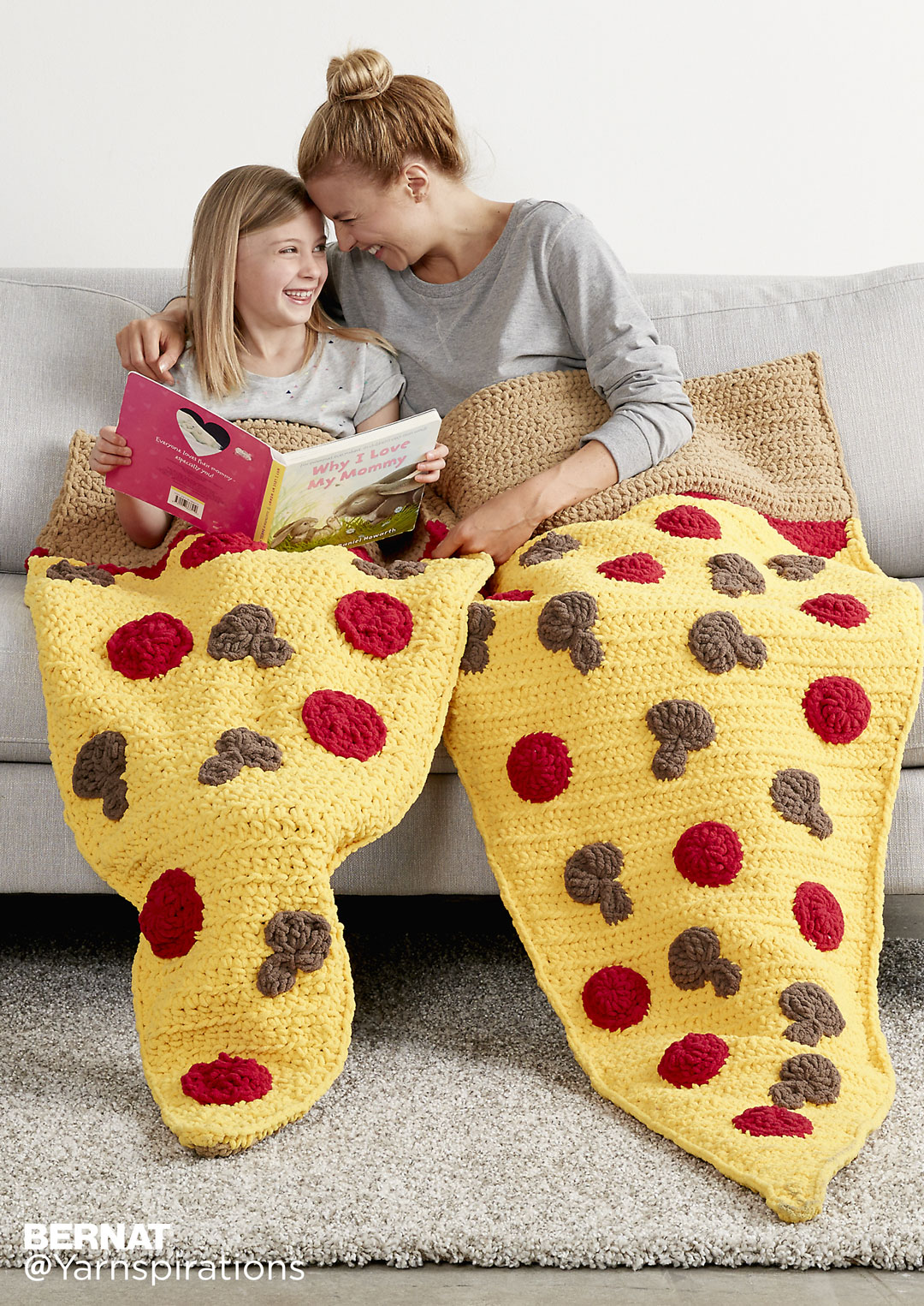 Picture of Pizza Party Crochet Snuggle Sack