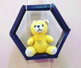 DIY Honeycomb Wall Shelf