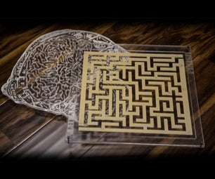 Laser Cut Maze