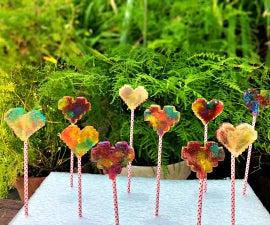 Double Rainbow Lollipops