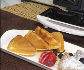 Cake Triangles Baked In Sandwich Toaster