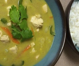 Spicy Thai Green Curry With Chicken