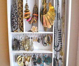 Hanging Jewelry Organizer from Utensil Holder