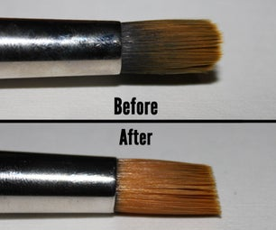 How to Clean Paint Stuck in the Ferrule of a (fineart) Paintbrush