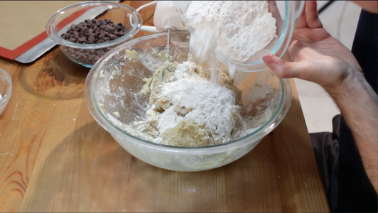 Add Flour to Dough