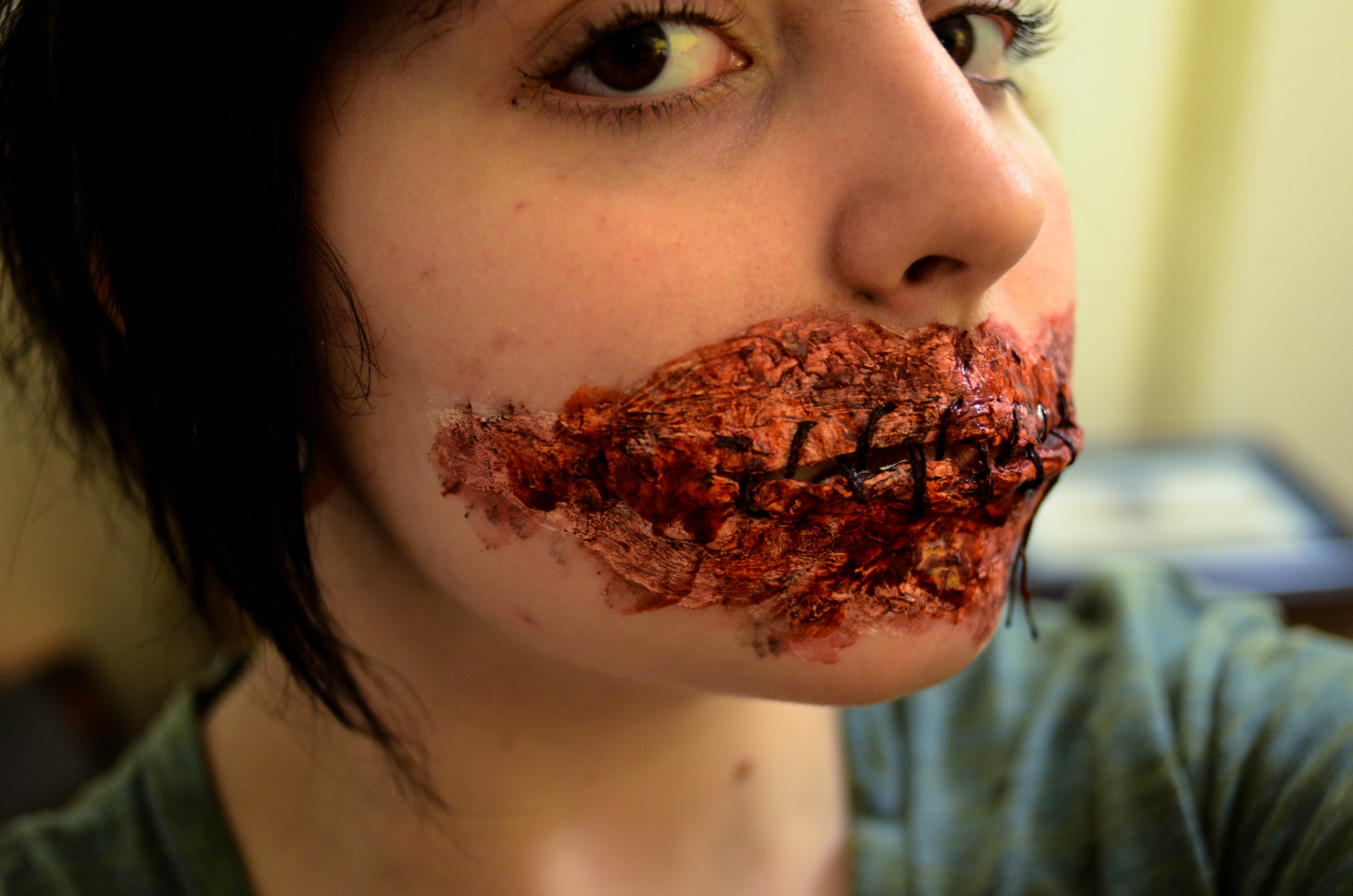 Picture of Sewn Mouth FX Makeup Tutorial