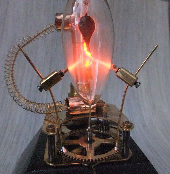 Plasma Bulb With Clock Gear