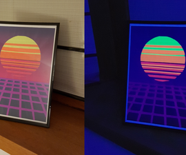 Glow in the Dark Synthwave Poster