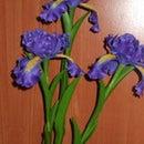 How to make Clay Flower Iris tutorial / Polymer Clay / Sugar Craft / Cake Decoration DIY