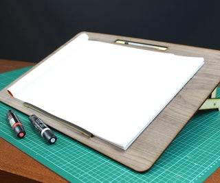 How to Make a Lasercut Adjustable Drawing Board