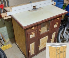 Stable Router Table With Low Cost Wood