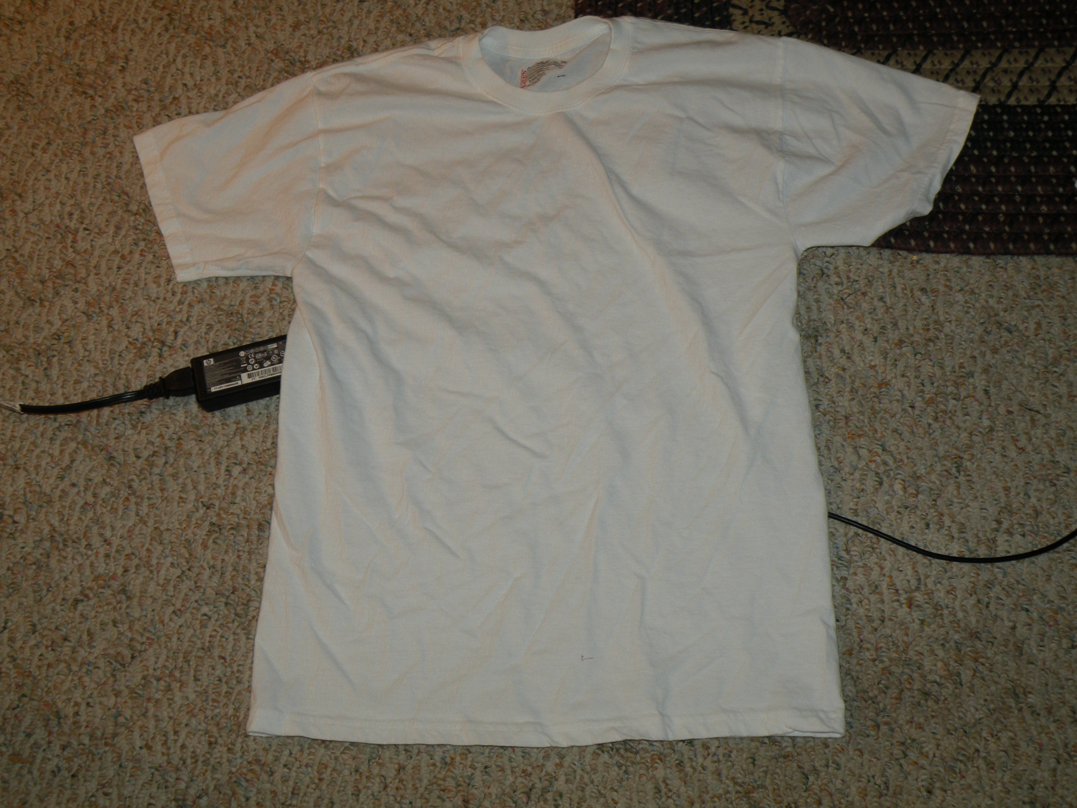 Picture of Plain White Tee + a Pillow Case