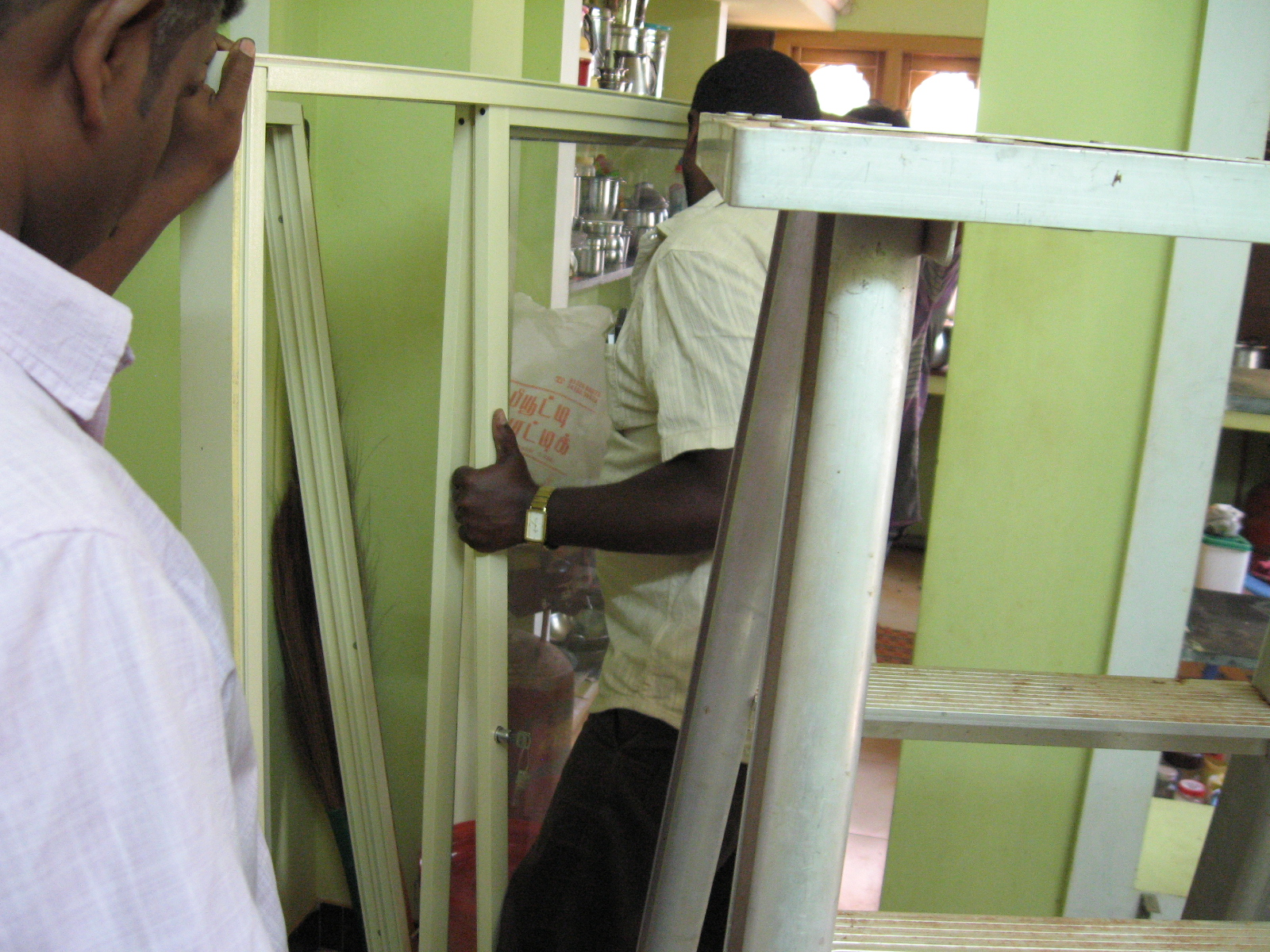 Picture of Fitting the Glass Doors in Frame