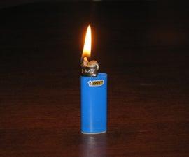 Homemade Zippo-style lighter