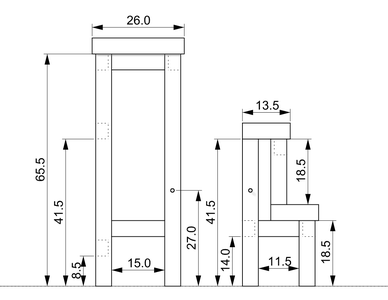 1st Version Dimensions