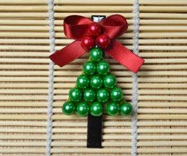 DIY Christmas Tree Hair Clip