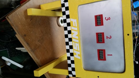 Recycled Pinewood Derby Track and Made From Scratch Arduino Timer for Cub Scouts