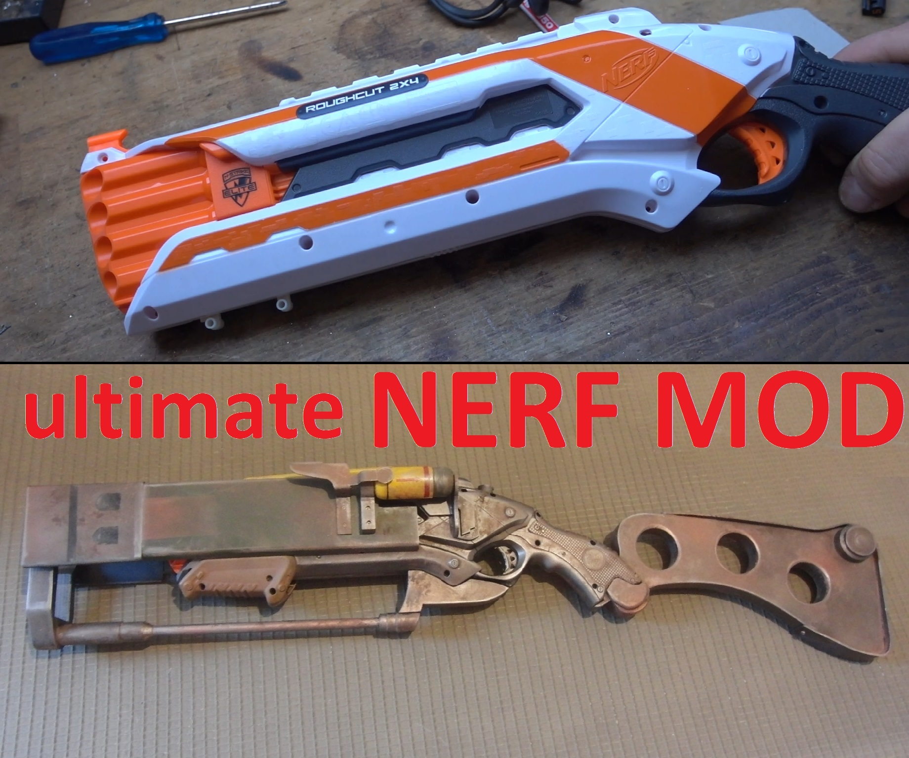 Picture of NERF Roughcut MOD: Fallout Laser Rifle !!!