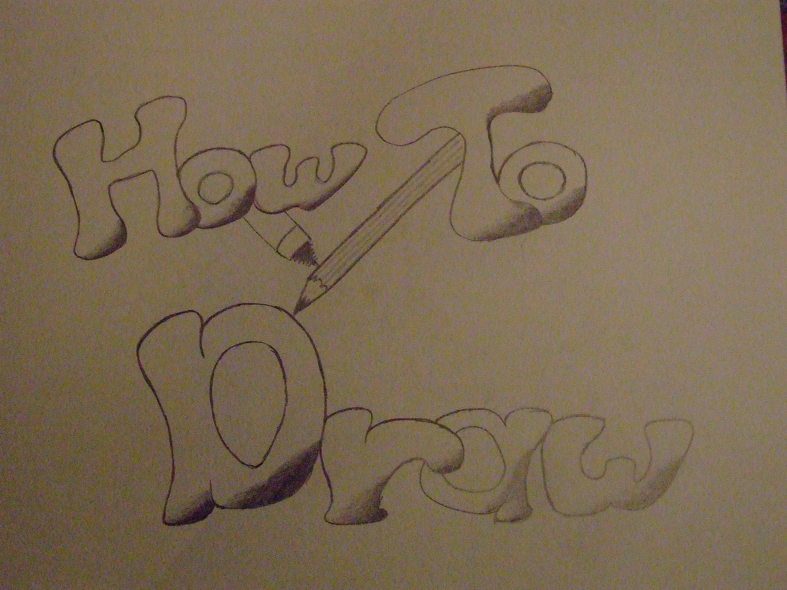 Picture of How to Draw (well Part One)