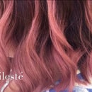 Pink Balayage Ombre Hair Colour