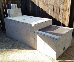 Cinder Block (CMU) Offset Smoker