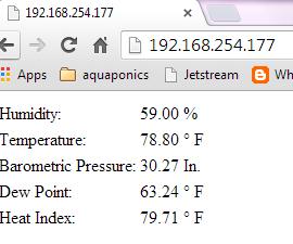 The Super Simple Arduino Weather Web Server