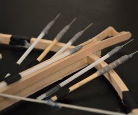 How to Make Mini Crossbow Bolts/Arrows
