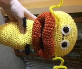 Crochet a Zapfish From Splatoon