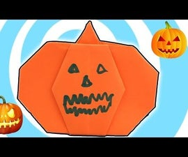 DIY: Halloween Paper Origami Pumpkin Instructions