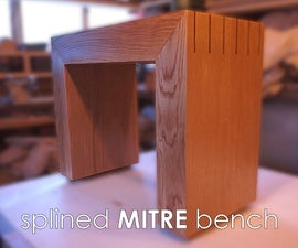 Splined Mitre Bench