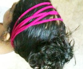 Chic Head Band From An Old T-Shirt