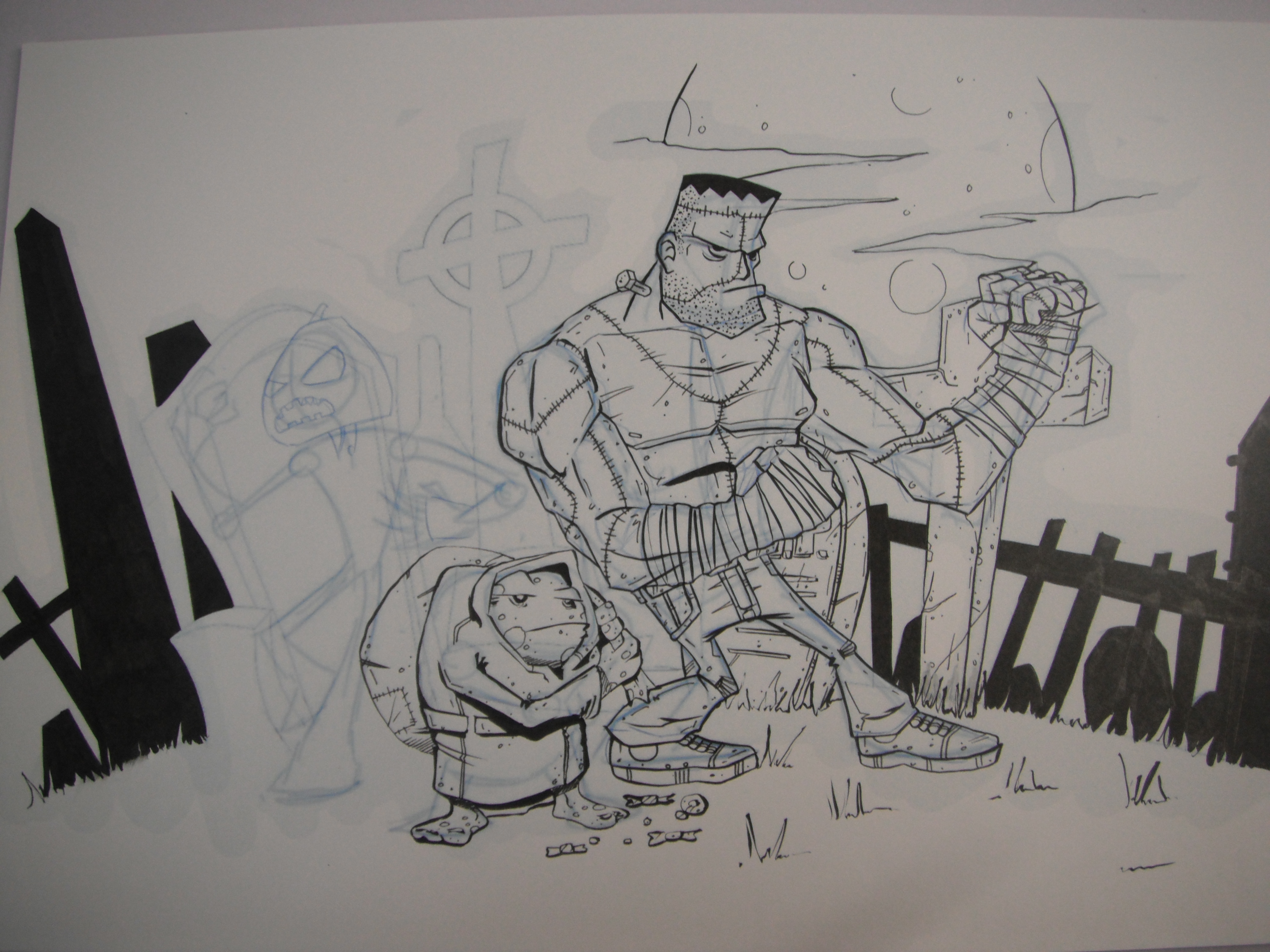 Picture of Finishing the Inking