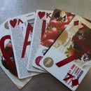 Gift Cards Tranformed Into Playing Cards